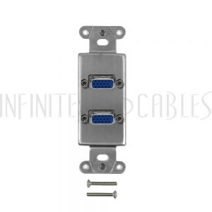 WPK-DS-2VGA Stainless Steel Decora Strap - 2x VGA - Infinite Cables