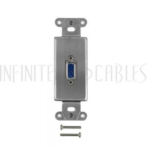 WPK-DS-VGA Stainless Steel Decora Strap - 1x VGA - Infinite Cables