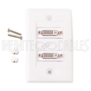 2-Port DVI Wall Plate Kit - White