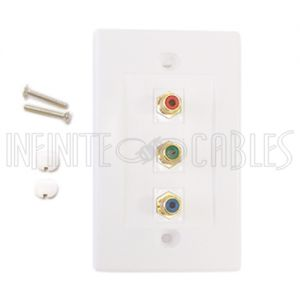 WPK-RGB Component Wall Plate Kit - White - Infinite Cables