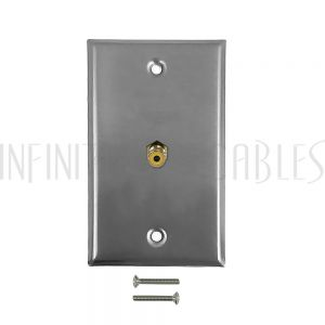 WPK-SSY RCA Composite Single Gang Wall Plate Kit - Stainless Steel - Infinite Cables