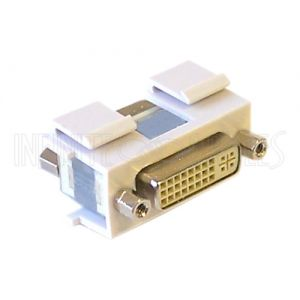 WP-IN-DVI DVI Female/Female Double-Keystone Wall Plate Insert - Infinite Cables