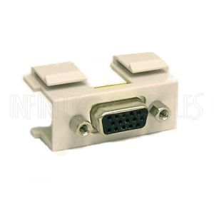 WP-IN-VGA3 VGA Female/Female Double-Keystone Wall Plate Insert - Infinite Cables