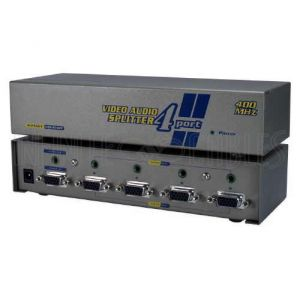 VAS-814PF 4-Port VGA Video Splitter with 3.5mm Audio - 2048x1536