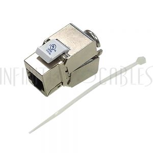 JK-8C6P-SS RJ45 Jack, 110 Style Punch-Down Cat6 Shielded - Infinite Cables