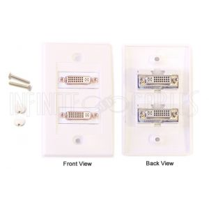 2-Port DVI Wall Plate Kit - WhiteWPK-DVI2
