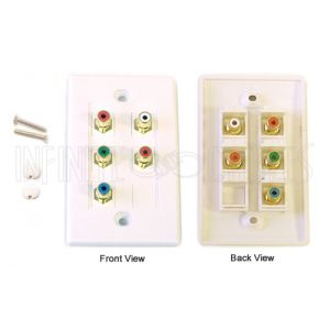 WPK-RGBA Component + Left/Right Audio Wall Plate Kit - White