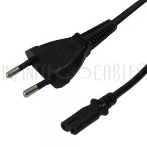 Schuko CEE 7/16 (euro) to C7 Power Cords - Infinite Cables