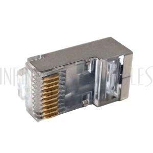 CN-RJ50S-100 RJ50 Cat5e Plug Shielded for Round Stranded Cable (10P 10C) - Infinite Cables