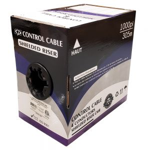 BK-CON446-BK 1000ft 4C 18AWG Stranded Control Cable CMR Shielded - Black - Infinite Cables