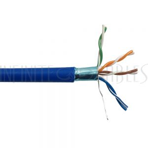 Bulk Cat5e Solid Shielded Plenum FT6 Cable - Infinite Cables