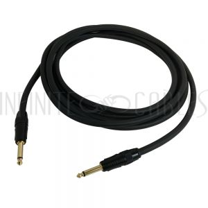 TS (1/4 inch) to TS (1/4 inch) Speaker Cables