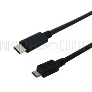 USB 2.0 Type C Male to Micro B Male
