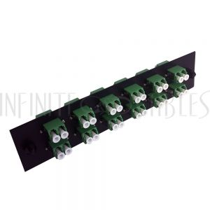PP-FA208A-12BK Loaded Adapter Panel with 12x Duplex LC/APC Singlemode - Black - Infinite Cables