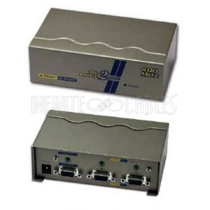 VAS-812PF 2-Port VGA Video Splitter with 3.5mm Audio - 2048x1536