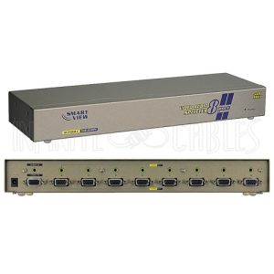 VAS-818PF 8-Port VGA Video Splitter with 3.5mm Audio - 2048x1536 - Infinite Cables