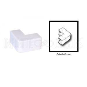 RW-103-WH Perplas Raceway Outside Corner Type-1 - White