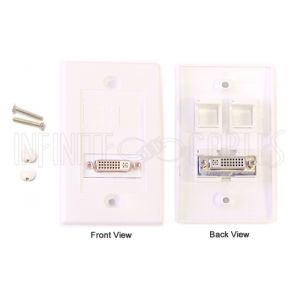 WPK-DVI1 1-Port DVI Wall Plate Kit - White