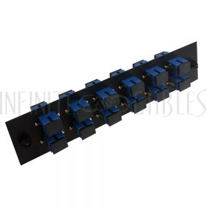 PP-FA604-12BK Loaded Adapter Panel with 12x Simplex SC/UPC Singlemode - Black - Infinite Cables