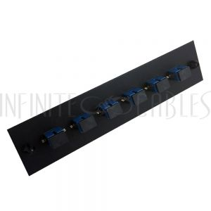 PP-FA604-6BK Loaded Adapter Panel with 6x Simplex SC/UPC Singlemode - Black