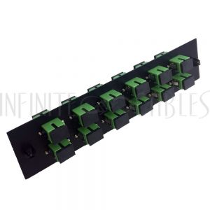 PP-FA604A-12BK Loaded Adapter Panel with 12x Simplex SC/APC Singlemode - Black