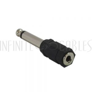 AD-Y1Q0 3.5mm Mono Female to 1/4 inch Mono Male Adapter