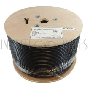 BK-DMX5-BK 1000ft DMX cable - 4C/22AWG BC stranded, 85% braid + 100% foil CMR - Infinite Cables