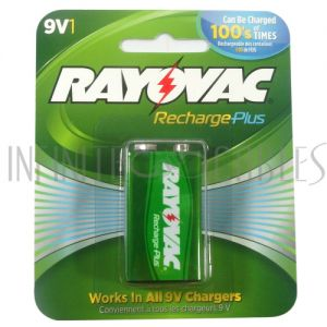 BT-NIMH-9V-1 Rayovac 9V Rechargeable NiMH Batteries (1 per pack) - Infinite Cables