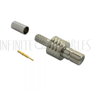 CN-41-100 SMB Female Crimp Connector for RG174 (LMR-100) 50 Ohm