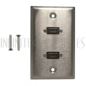 Stainless Steel HDMI Wall Plate Kits