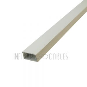 "RW-300-IV Perplas 6ft Raceway with Adhesive Tape - 1"" x 2"" Off White - Infinite Cables"