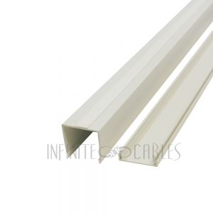RW-400-IV Perplas 6ft Raceway with Adhesive Tape - 2 inch x 2 inch - Off White
