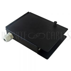PP-F1512-BK Indoor 4-Port Metal Fiber Optic Terminal Box - Black