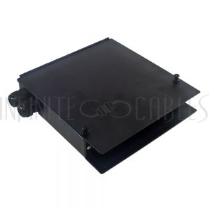PP-F1520-BK Indoor 16-Port Metal Fiber Optic Terminal Box - Black - Infinite Cables