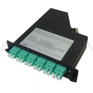 PP-FC1415-BK 12-Fiber Multimode OM4 LGX Style Cassette MPO Male to 6x LC Duplex - Black - Infinite Cables