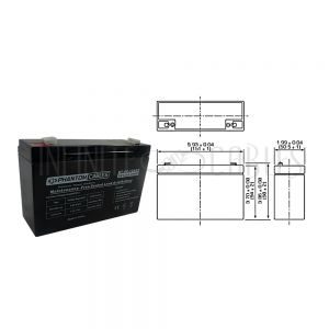 BT-6V-12A-8PCS UPS Battery 6V 12amp x 8