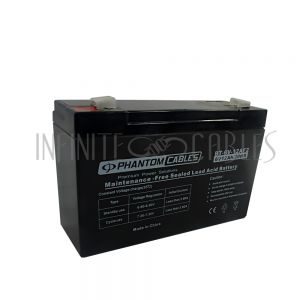 BT-6V-12A-6PCS Sealed Lead Acid Battery 6V 12amp x 6 - Infinite Cables