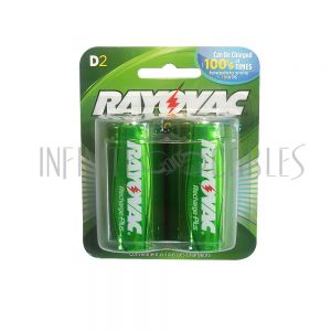 BT-NIMH-D-2 Rayovac D Rechargeable NiMH Batteries (2 per pack)