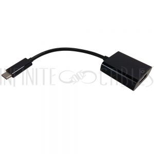 AD-UC-DP01 USB 3.1 Type C to DP (1.2) Adapter - Black - Infinite Cables