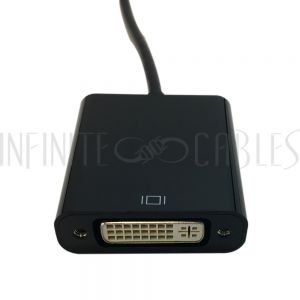 AD-UC-DV01 USB 3.1 Type C to DVI (6.75Gbps all channels) Adapter - Black - Infinite Cables