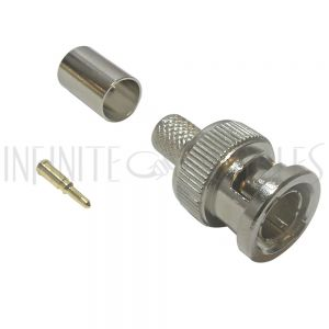 CN-30-RG6 BNC Male Crimp Connector for RG6 Cable