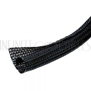 BS-F6075-50BK 50ft 3/4 inch Split Braided Sleeving Black