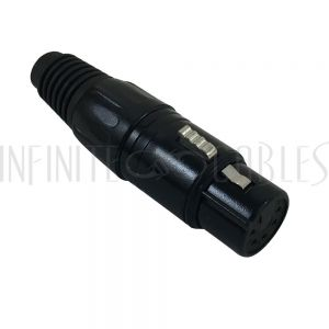 CN-DMX5F DMX 5-pin Female Connector - Black - Infinite Cables