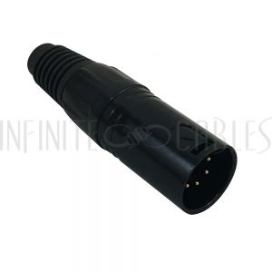 CN-DMX5M DMX 5-pin Male Connector - Black - Infinite Cables