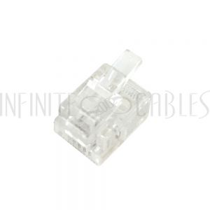 CN-RJ11-10 RJ11 Plug for Flat Cable (6P 4C) - Pack of 10 - Infinite Cables