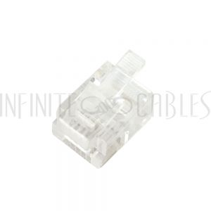 CN-RJ12R-100 RJ12 Plug for Round Cable (6P 6C) - Pack of 100 - Infinite Cables