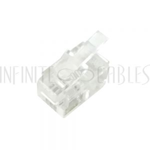CN-RJ9-100 RJ9 Hand-Set Plug for Flat Cable (4P 4C) - Pack of 100 - Infinite Cables