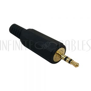 CN-S2.5MP-6.0BK 2.5mm Stereo Male Solder Connector - Infinite Cables