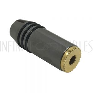 CN-S3.5F-5.5BK Premium 3.5mm Stereo Female Solder Connector - Zinc - Infinite Cables