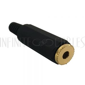 CN-S3.5FP-5.0BK 3.5mm Stereo Female Solder Connector - Black - Infinite Cables